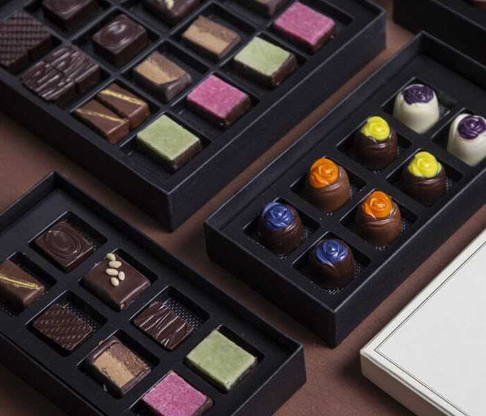 Various assortments of Assorted Ganache Chocolate Roses Gift Box